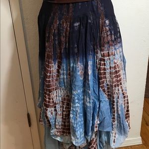 NWT Long Cotton Maxi Skirt Size L